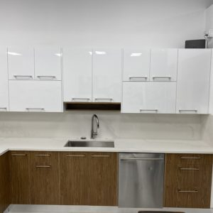 Gloss White with Tinos Cabinets
